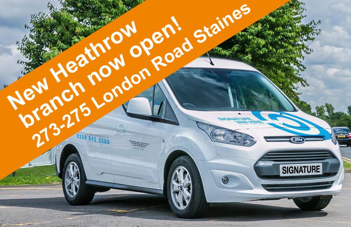 New Heathrow Van Hire Branch now open!