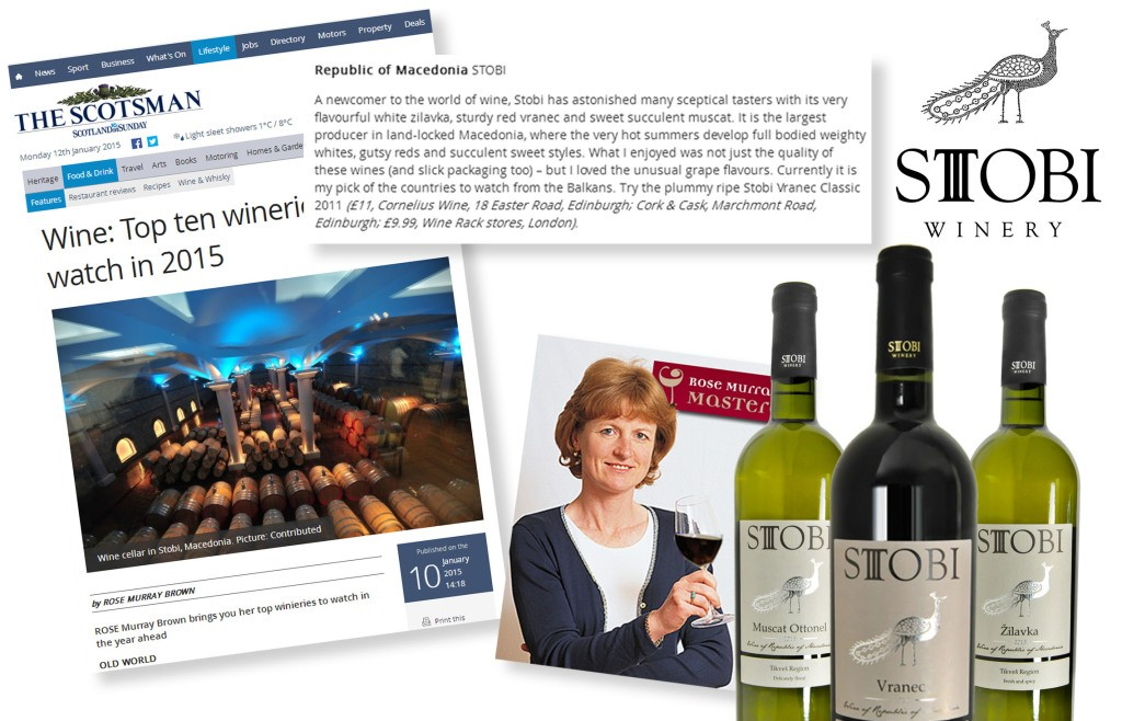Stobi Makes top 10 Wineries List in The Scotsman.