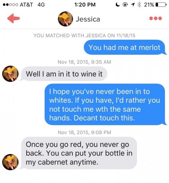 Is This Glass of Wine the Most Popular Tinder Account Ever?