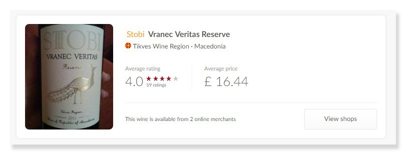 Premium Reviews on Vivino for Stobi's Premium  Wines!