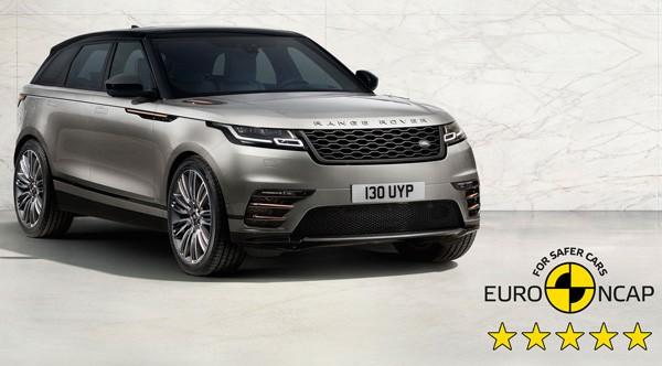 Five-star Euro NCAP Rating for the Range Rover Velar