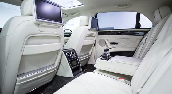 bentley flying spur rear interior