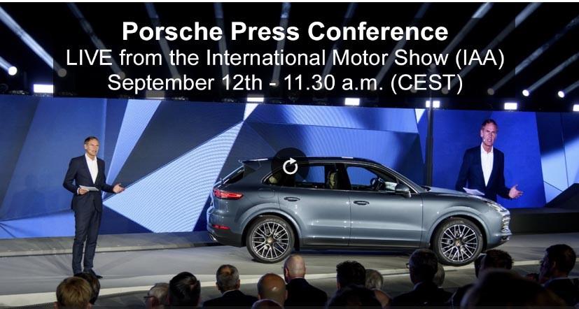 Live Stream of Porsche Cayenne World Premiere