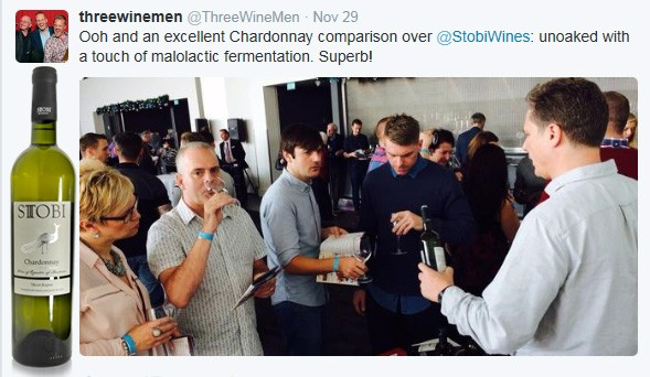 Stobi goes down a storm at the Manchester Three Wine event