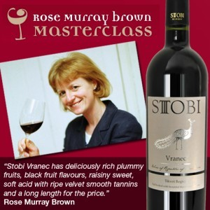 Another Great Review for Stobi's Vranec Wine
