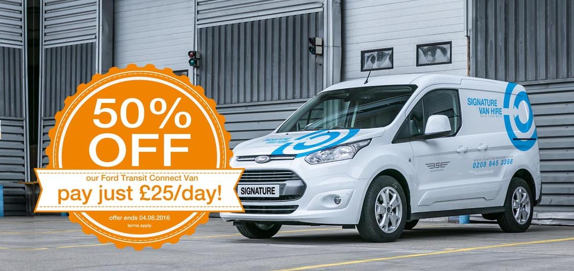 A Focus on the Ford Transit Connect – 50% OFF til 4th August 2016!