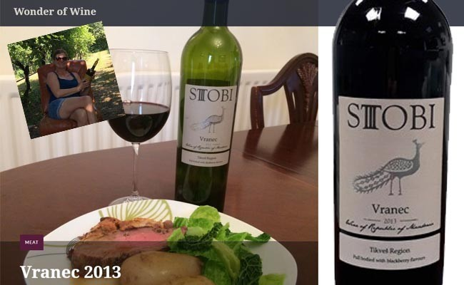 Wonder of Wine Latest Review on our Macedonian Stobi Vranec 2013