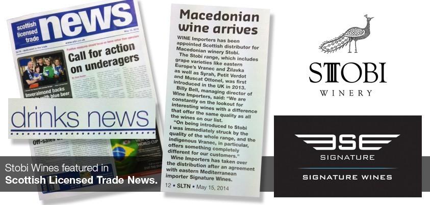 Stobi Features in Scottish Licensed Trade News