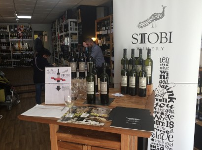 Stobi Wine Tasting at SH Jones tasting in Leamington Spa