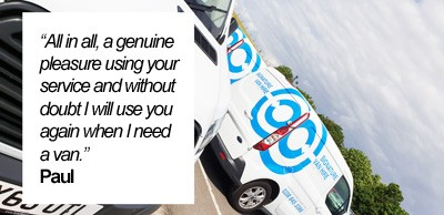 Great Feedback from happy van hire customer